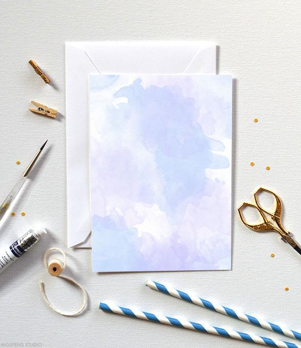 Fun & Modern! D.I.Y. watercolor invitation kits - www.mospensstudio.com