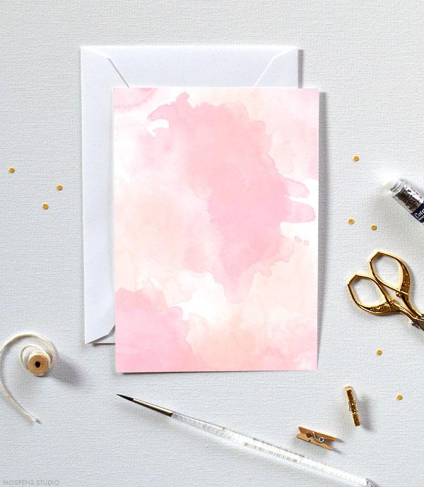 Watercolor Invitations D.I.Y. - Mospens Studio