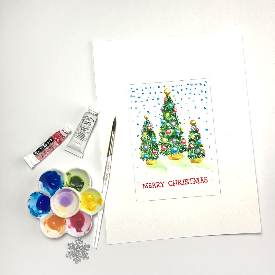 Custom Made Illustrated Christmas Cards Custom Watercolor