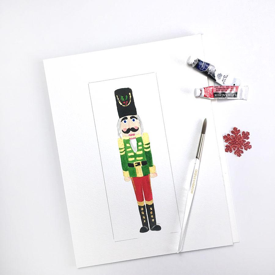 Custom Made Illustrated Christmas Cards Custom Watercolor